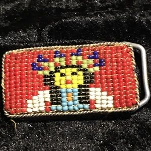 Other - child's beaded belt buckle